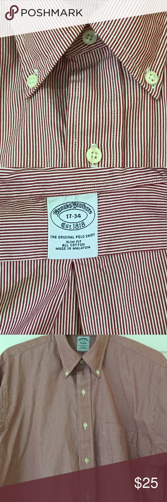 ♥️🎊 Brooks Brothers slim fit dress shirt All cotton slim fit dress shirt. Only worn a few times. In excellent condition. Brooks Brothers Shirts Dress Shirts
