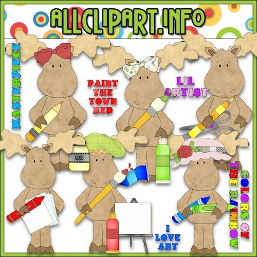 Masterpiece Moose Clip Art - $1.00 : Welcome to AllClipART.info!, We offer High Quality COMMERCIAL USE Graphics for Teachers, Crafters & Scrapbookers. Clip Art Graphics, Printable Paper Crafts, CU/PU Kits, Digital Stamps, Digital Papers & Free Downloads! Available in downloadable jpg & png formats.