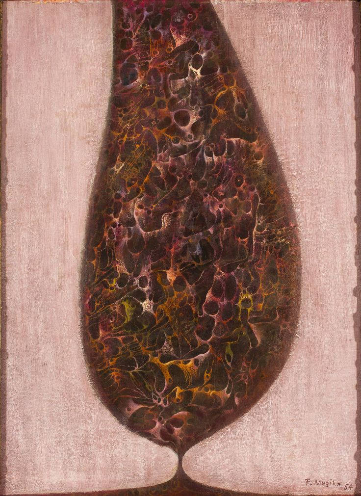 František Muzika - The tree in pink (1959) #painting #Czechia #art #CzechArt