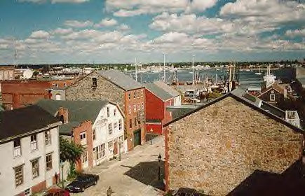 Centre Street, New Bedford, from the view of the Whaling Museum