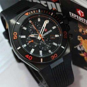 jam tangan expedition E6634 black orange original