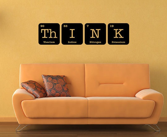kid 39 s room wall art idea periodic tables periodic table wall art and art. Black Bedroom Furniture Sets. Home Design Ideas