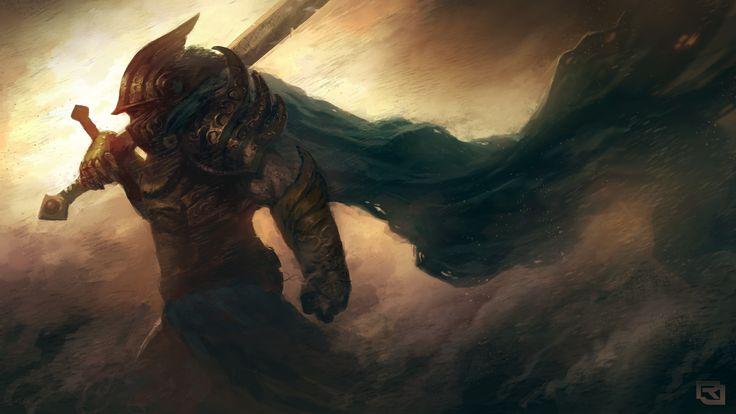 Download Wallpaper 3840x2160 Art, Warrior, Armor, Helmet