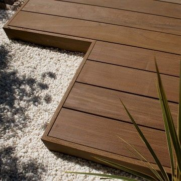 Ipe hardwood decking back yard ideas pinterest for Smooth hardwood decking boards