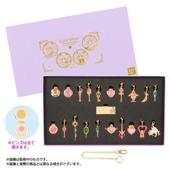 Sailor Moon Crystal Charms and Pins Sets!