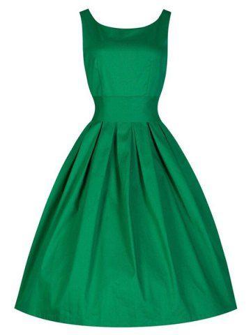 emerald green vintage dress