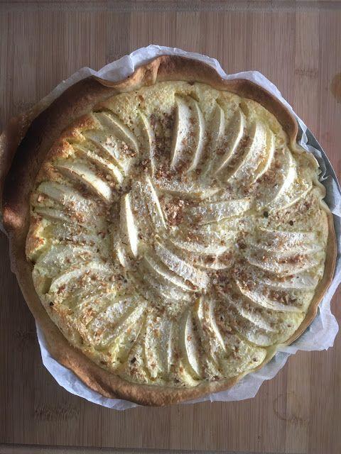 Recette de la tarte aux pommes et crème au mascarpone (pâte brisée nogluten)