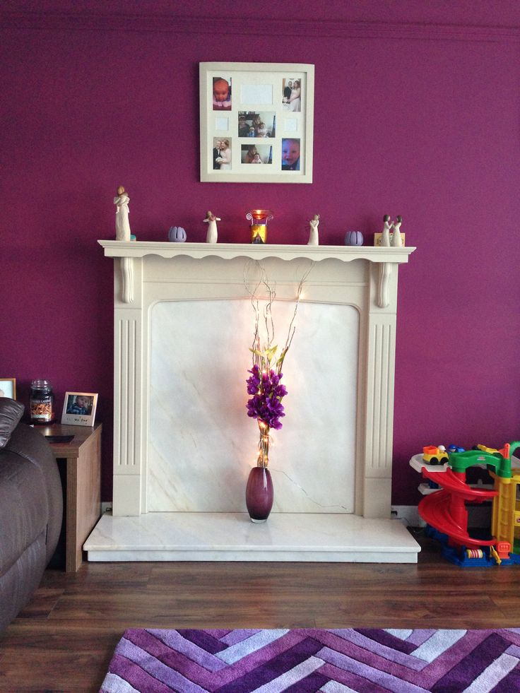 Living Room Purple Makeover