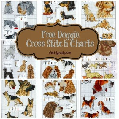 free-dog-cross-stitch-charts-puppy-terrier-bull-shepard-dashchund                                                                                                                                                                                 More