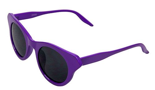 Winged Wayfarer-Style Purple Sunglasses