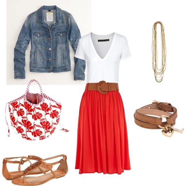 Red Polyvore Clothes  Outift for • teens • movies • girls • women •. summer • fall • spring • winter • outfit ideas • dates • parties Polyvore :) Catalina Christiano
