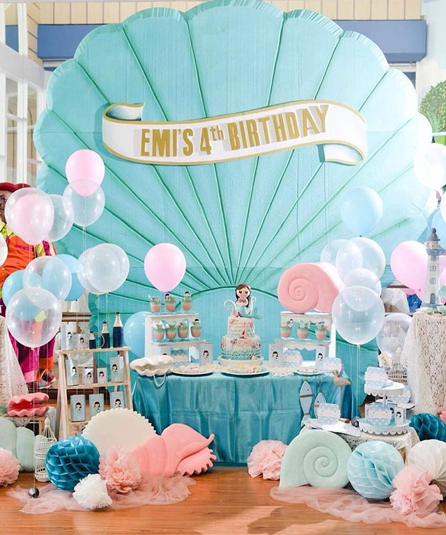 We love our beautiful daughter to the moon and back. Happy Birthday to our favorite princess!  Photo by @ericks4n @hephotoworks  #mermaid #mermaidparty #sweetcorner #birthdayparty