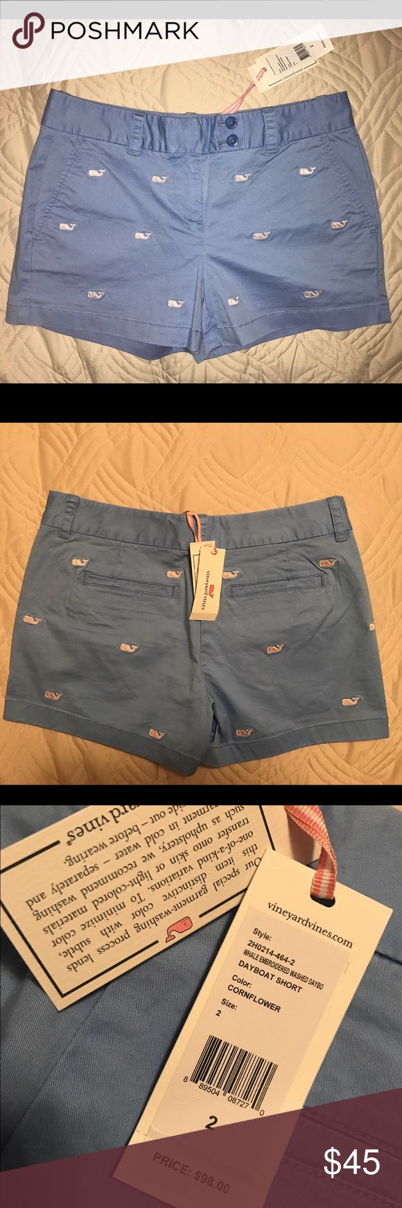Vineyard Vines Blue Shorts with Whales New with tags baby blue Vineyard Vines Shorts with baby pink whales. Retail for $98! Perfect for spring and summer! Vineyard Vines Shorts