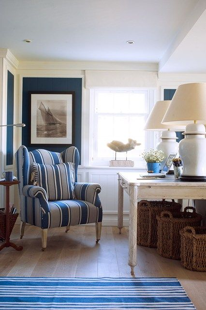 Blue & White Hallway | Summer House Decoration Ideas (houseandgarden.co.uk)