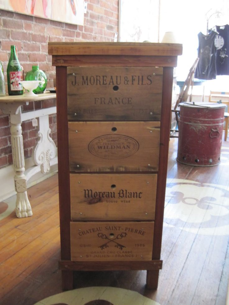 21 best diy wine crate furniture projects images on What to do with wine crates