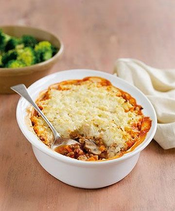 WHO NEEDS MINCE? Lentil shepherd's pie is a healthier alternative.