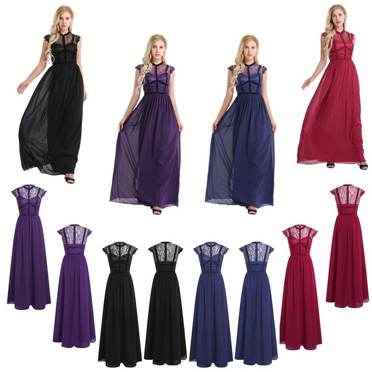 Women Long Cocktail Bridesmaid Evening Party Prom Dress Vintage Maxi Dresses #Unbranded #BallGown #Cocktail