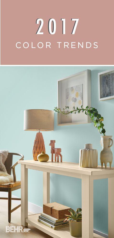 When your home could use a much-needed style makeover, the BEHR 2017 Color Trends are here to save the day. This paint palette of Gold Hearted, Close Knit, and Everything Rosy is cheery, chic, and beautifully neutral, giving your space the updated feel you're going for!
