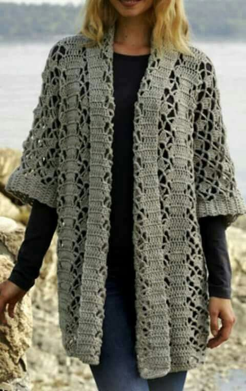 Crocheted jacket (just pic )