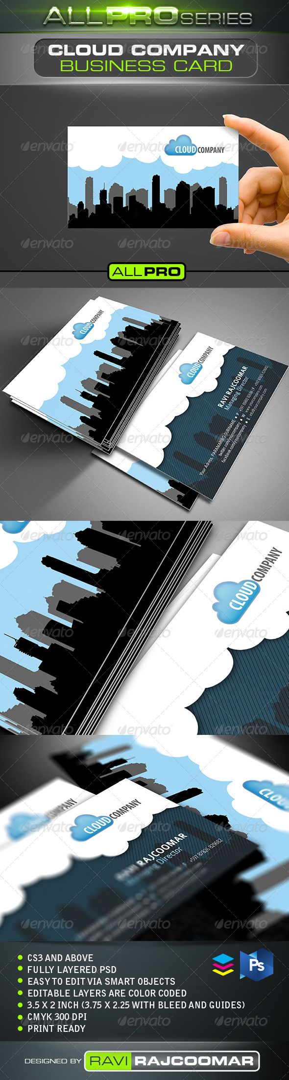 Cloud Company Business Card