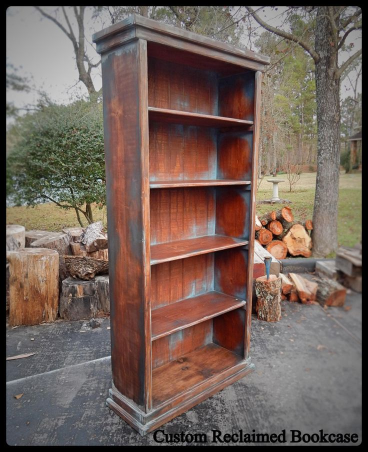 17 best ideas about reclaimed wood bookcase on pinterest for Reclaimed wood bookshelf diy
