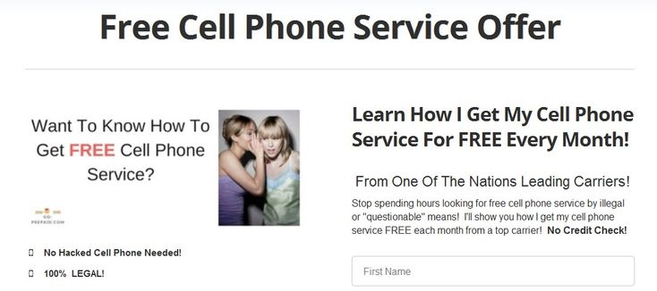 Free cell phone service! I can show you how to get free cell phone service from a top carrier LEGALLY! https://www.go-prepaid.com/free-cell-phone-service