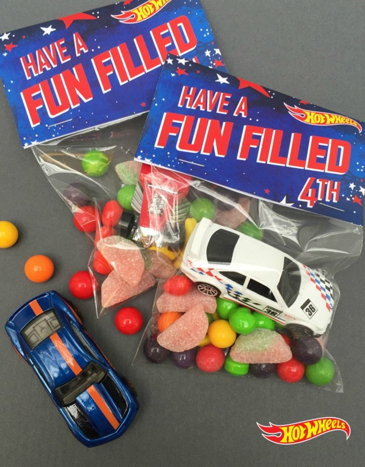 Make Your Independence Day Celebration One Littlest Guests Will Never Forget With These Quick And Easy Hot Wheels Goodie Bag Toppers