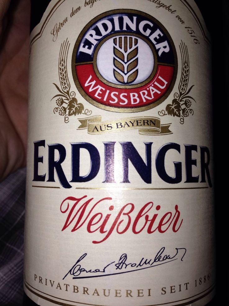 Erdinger! A rare wheat beer in the UK