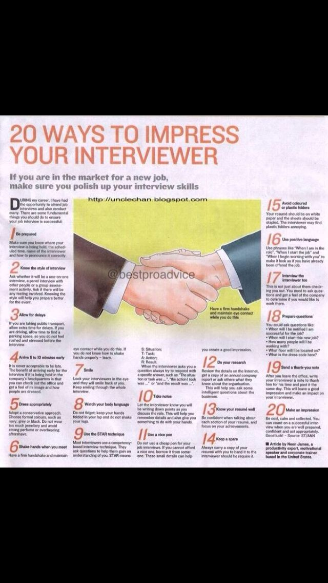 20 ways to best sell your self in an interview and impress your interviewer #interviewtips #gettingthatjob #learntolive