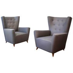 Pair of Lounge Chairs by Paolo Buffa   From a unique collection of antique and modern lounge chairs at https://www.1stdibs.com/furniture/seating/lounge-chairs/