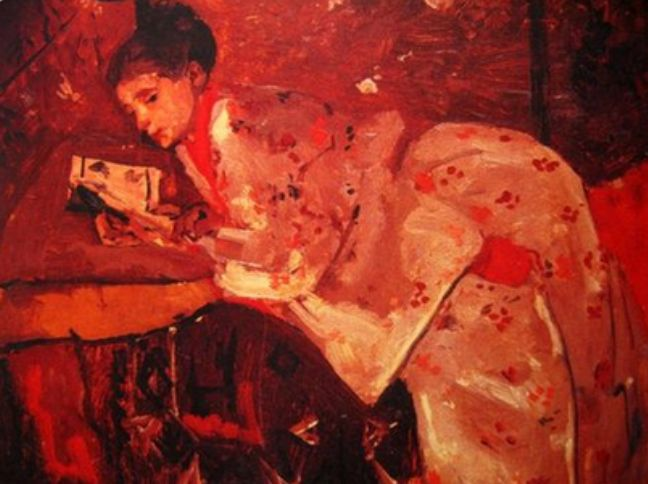 ✉ Biblio Beauties ✉ paintings of women reading letters & books - Georg Breitner