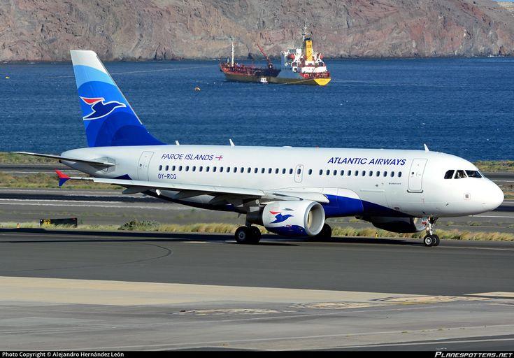 Atlantic Airways Airbus A319-115 OY-RCG aircraft, skating at Spain Gran Canaria Las Palmas International Airport. 17/12/2016.