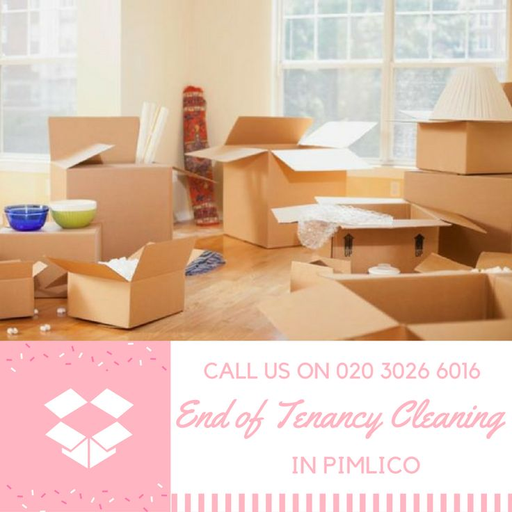 Moving out with Pimlico end of tenancy cleaning services is easy!