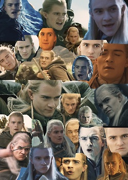 """A bunch of strange Legolas faces.Look at all those faces though. """"I'm sensing something."""""""