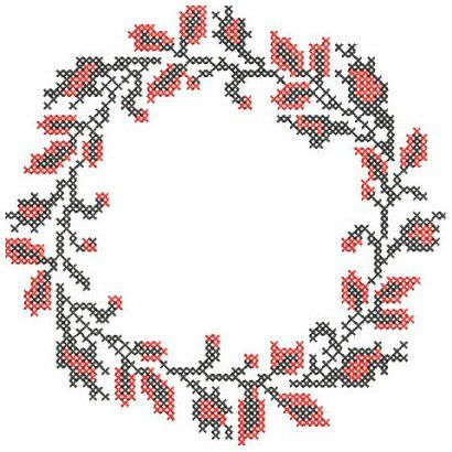 Puttock International Embroidery Designs Cross Stitch Circular Frame Border Embroidery Design, bb-1-cross-stitch-circle, Cross Stitch (Machine), bb-1-cross-stitch-circle