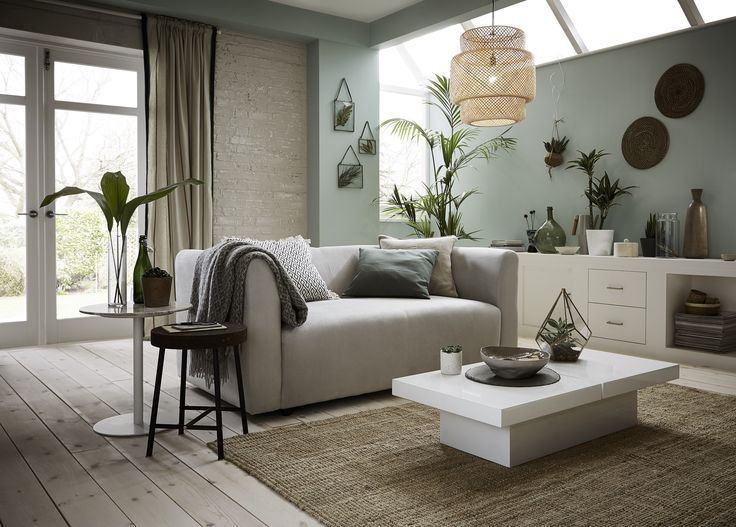 Neutrals + Greens + Indoor plants = a botanical look that's easy to create in any room.