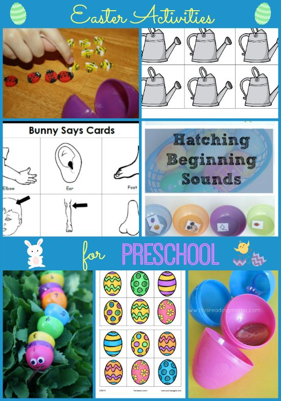 Easter Activities for #preschool and #kindergarten