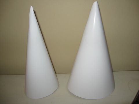 How to make a cone.  Save money and stop buying styrofoam cones to decorate!