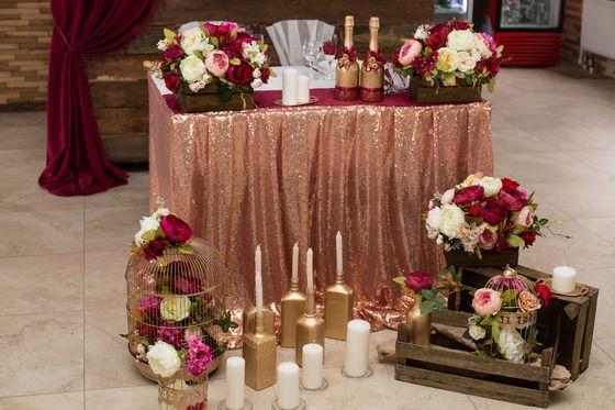 Свадьба в цвете марсала - Свадьбы - Сообщество декораторов текстилем и флористов