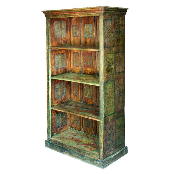 Rustic Green Tall Bookcase  http://www.theimporter.co.nz/collections/new