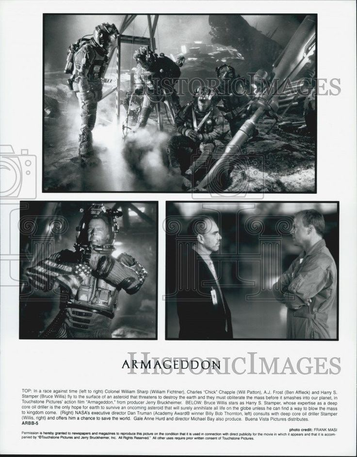 "1998 Press Photo Actor Billy Bob Thornton Bruce Willis in ""Armageddon"" Film"