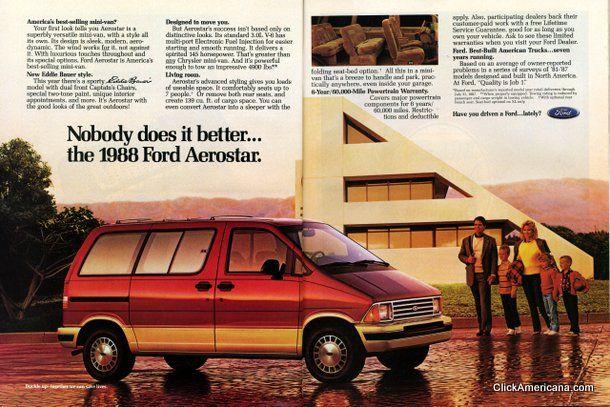 Make mine a minivan: Ford Aerostar (1987)