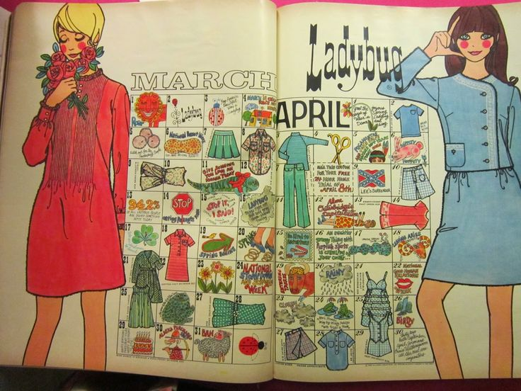 Ladybug Fashions From the '60's And '70's - Lovely artwork!