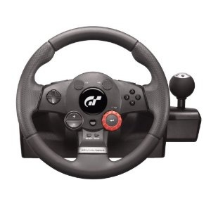 Logitech PlayStation 3 Driving Force GT Racing Wheel. 24-position realtime adjustment dial: Fine-tune brake bias, TCS, and damper settings on the fly for unprecedented control over your car's performance. #Video Game #Video Game Driving Wheel