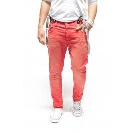 Cipo & Baxx Spodnie z szelkami Red C-0991 - Only €49.95 1S1H