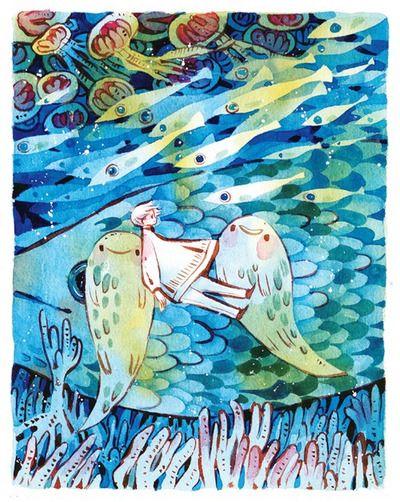 海の主 Painted during livestream~ ^u^ Watercolour + 140lb Arches paper