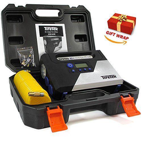 From 34.99 Tiretek Rx-i Digital Tyre Inflator Pump - 12v Portable Air Compressor With Auto Cut Off