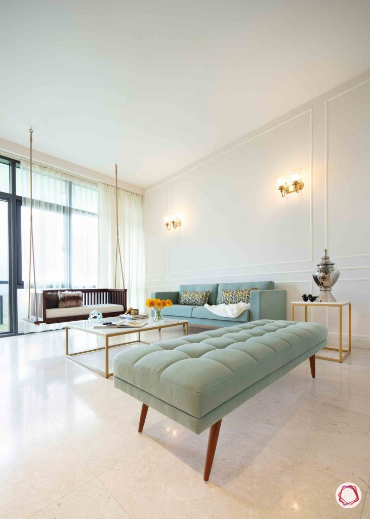Flats In Gurgaon A Chic Home Designed On A Budget Stylish Living Room Stylish Living Room Furniture Indian Living Rooms #zen #living #room #on #a #budget