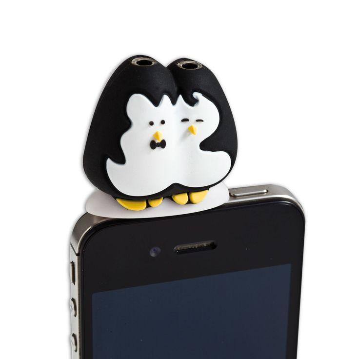 Spinning Hat | Headphone Splitters – Penguins http://www.spinninghat.com/product/headphone-splitters-penguins/