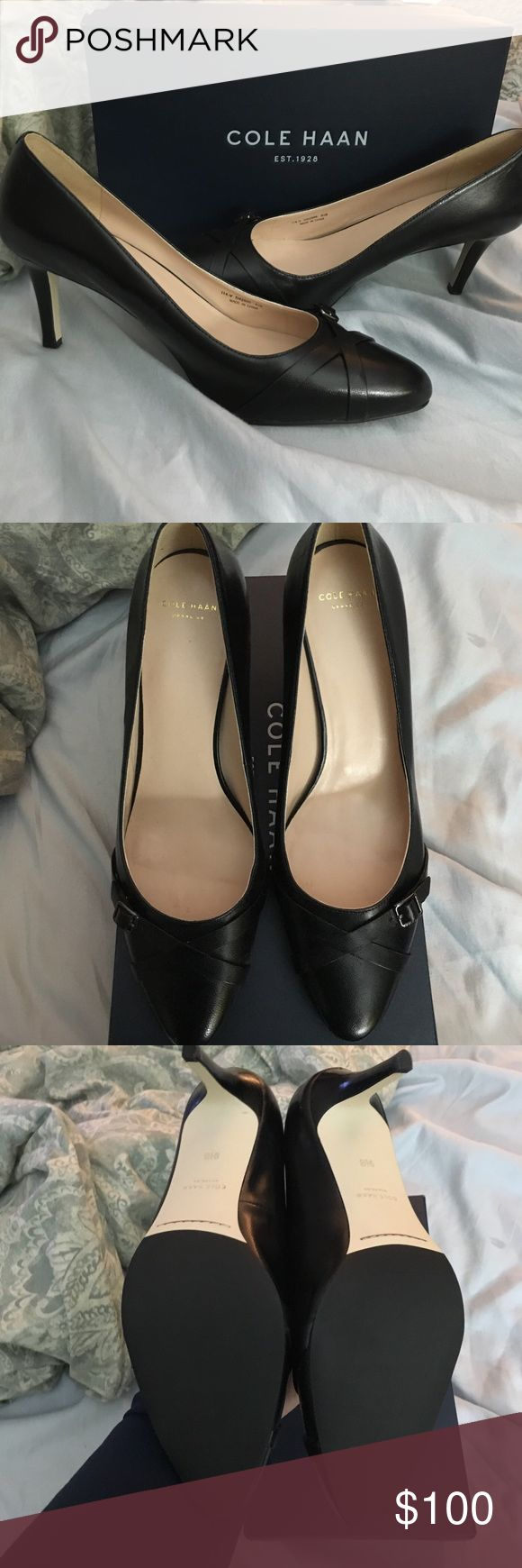 "NWT Cole Haan Air Lena Pump NWT Cole Haan Air Lena Pump. Black leather, approx. 3"" heel. Very comfortable with Nike Air technology! Cole Haan Shoes Heels"